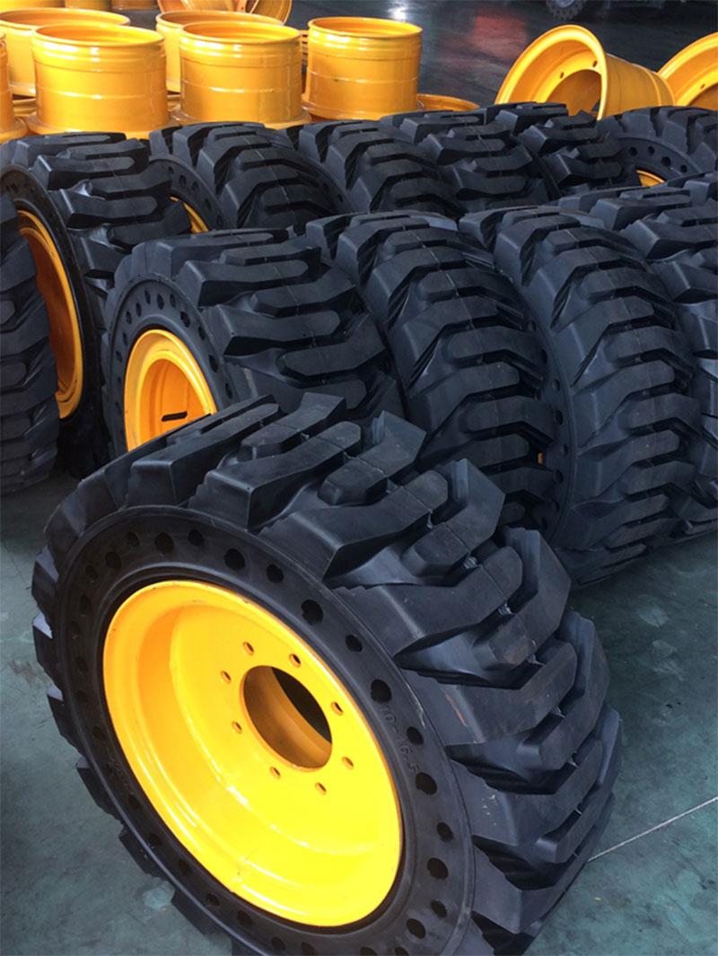 如何避免实心轮胎出现滑圈的现象?